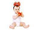 Cute little baby having fun Royalty Free Stock Photo