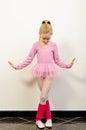 Cute little ballerina dancing Stock Photography