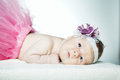 Cute little ballerina portrait baby close up Royalty Free Stock Photos