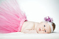 Cute little ballerina portrait baby close up Royalty Free Stock Image