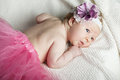 Cute little ballerina portrait baby close up Stock Images
