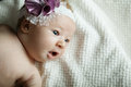 Cute little ballerina portrait baby close up Royalty Free Stock Photo