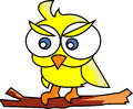 Cute little bird vector style bright clear Stock Images