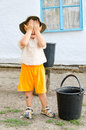 Cute little boy covering his face Royalty Free Stock Photography