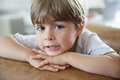 Cute little boy looking at camera portrait of Royalty Free Stock Photo