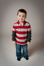 Cute little boy looking up Royalty Free Stock Images