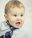 Cute little boy portrait an adorable in an indoor studio Royalty Free Stock Photo