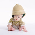 Cute little boy with safari hat Royalty Free Stock Photo