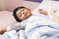 Cute little boy sleeping Royalty Free Stock Photo