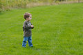 Boy in a field Royalty Free Stock Photo