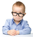 Cute little boy wearing glasses Royalty Free Stock Photo