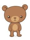 Cute little brown bear cub teddy Royalty Free Stock Photo
