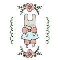 Cute little cartoon hare