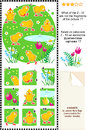 Cute little chickens visual logic puzzle what not fragments picture answer included Stock Images