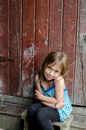 Cute little country girl Royalty Free Stock Photo
