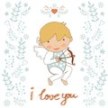 Cute little cupid Stock Photos