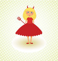 Cute Little Devil Royalty Free Stock Photo
