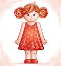 Cute little dolly girl Royalty Free Stock Photos