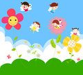 Cute little fairies Royalty Free Stock Images