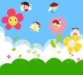 Cute little fairies Royalty Free Stock Photo