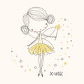 Cute little fairy. Nursery vector illustration