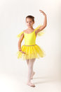 Cute little girl as ballet dancer Royalty Free Stock Photos