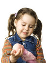 Cute little girl with a doll Royalty Free Stock Photography