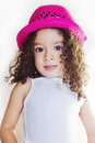 Cute little girl a egyptian child portrait on white background Stock Photography