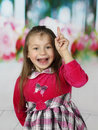 Cute little girl has idea Royalty Free Stock Photo