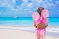 Cute little girl have fun on beach summer vacation Royalty Free Stock Photo