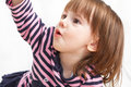 Cute, little girl lays on a floor Royalty Free Stock Photo