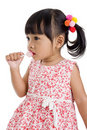 Cute little girl with a lollipop Royalty Free Stock Image