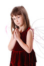 Cute little girl looking like an angel Royalty Free Stock Photos