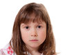 Cute little girl looking sad Royalty Free Stock Photography