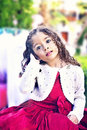 Cute little girl an outdoor portrait of a egyptian child Royalty Free Stock Image