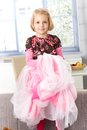 Cute little girl playing princess Stock Images