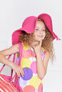 Cute little girl posing Royalty Free Stock Photo