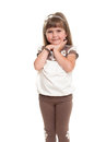 Cute little girl posing in the studio Royalty Free Stock Image