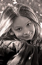 Cute little girl sepia Stock Photography