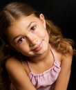 Cute little girl smiling Stock Photo