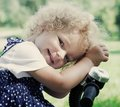 Cute little girl in summer park Royalty Free Stock Photography