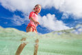 Cute little girl on vacation Royalty Free Stock Photography