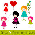 Cute little girls Royalty Free Stock Photos