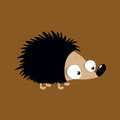 Cute little hedgehog illustration Royalty Free Stock Photo