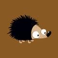 Cute little hedgehog illustration Royalty Free Stock Photo