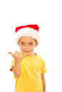 Cute little kid gesticulate Royalty Free Stock Image