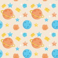 Cute little prince seamless pattern Royalty Free Stock Photo