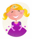 Cute little princess in pink dress with tiara Royalty Free Stock Photo