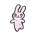 Cute little rabbit cartoon Stock Image