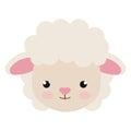 Cute little sheep animal character